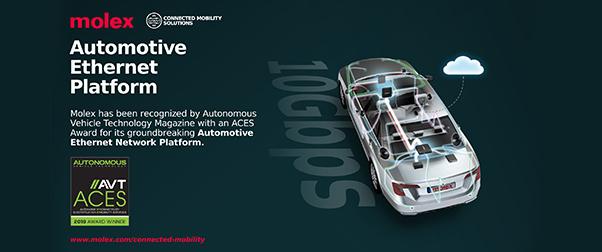 Molex Recognized by Autonomous Vehicle Technology Magazine